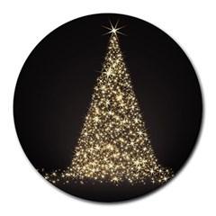 Christmas Tree Sparkle Jpg 8  Mouse Pad (Round)