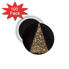 Christmas Tree Sparkle Jpg 100 Pack Small Magnet (Round)