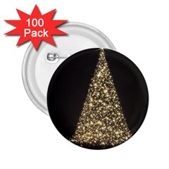 Christmas Tree Sparkle Jpg 100 Pack Regular Button (Round)