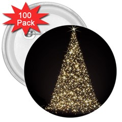 Christmas Tree Sparkle Jpg 100 Pack Large Button (Round)