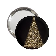 Christmas Tree Sparkle Jpg Handbag Mirror