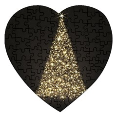 Christmas Tree Sparkle Jpg Jigsaw Puzzle (Heart)