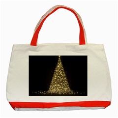 Christmas Tree Sparkle Jpg Red Tote Bag