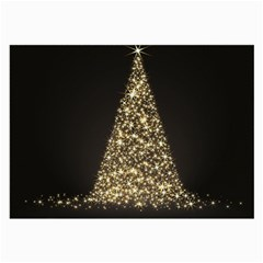 Christmas Tree Sparkle Jpg Single-sided Handkerchief