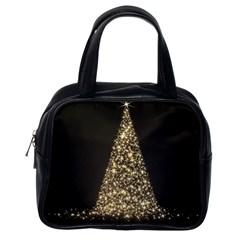 Christmas Tree Sparkle Jpg Single Sided Satchel Handbag
