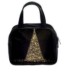 Christmas Tree Sparkle Jpg Twin-sided Satched Handbag