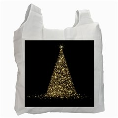 Christmas Tree Sparkle Jpg Single-sided Reusable Shopping Bag