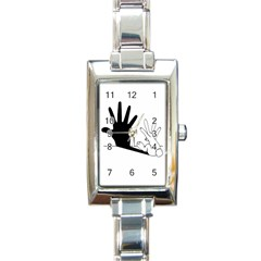 Rabbit Hand Shadow Classic Elegant Ladies Watch (Rectangle)