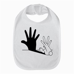 Rabbit Hand Shadow Bib