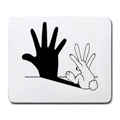 Rabbit Hand Shadow Large Mouse Pad (Rectangle)