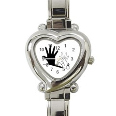 Rabbit Hand Shadow Classic Elegant Ladies Watch (Heart)