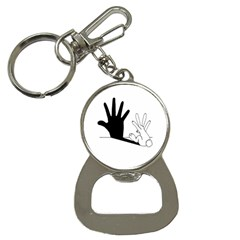 Rabbit Hand Shadow Key Chain with Bottle Opener