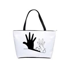 Rabbit Hand Shadow Large Shoulder Bag