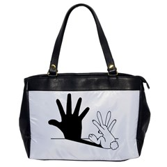 Rabbit Hand Shadow Single Sided Oversized Handbag