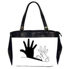 Rabbit Hand Shadow Twin-sided Oversized Handbag