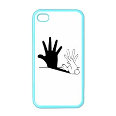 Rabbit Hand Shadow Apple iPhone 4 Case (Color)