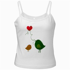 Love Birds White Spaghetti Top