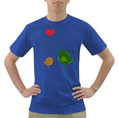 Love Birds Colored Mens'' T-shirt