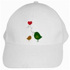 Love Birds White Baseball Cap