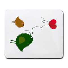 Love Birds Large Mouse Pad (Rectangle)