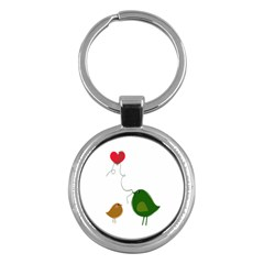 Love Birds Key Chain (Round)