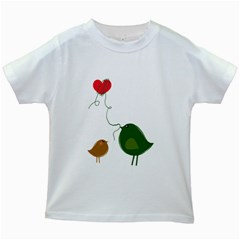 Love Birds White Kids'' T-shirt