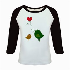 Love Birds Long Sleeve Raglan Womens'' T-shirt