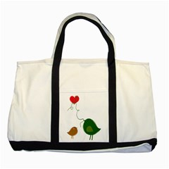Love Birds Two Toned Tote Bag