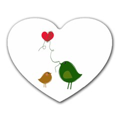 Love Birds Mouse Pad (heart)