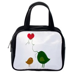 Love Birds Single-sided Satchel Handbag