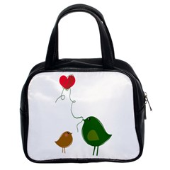 Love Birds Twin-sided Satched Handbag