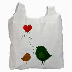 Love Birds Single-sided Reusable Shopping Bag