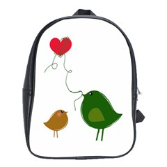 Love Birds Large School Backpack