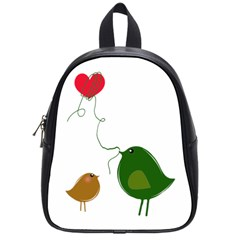 Love Birds Small School Backpack