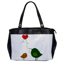 Love Birds Single-sided Oversized Handbag