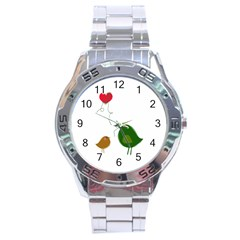Love Birds Stainless Steel Analogue Watch (round)