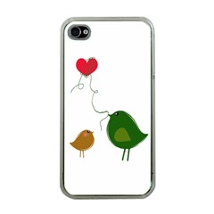 Love Birds Apple iPhone 4 Case (Clear)