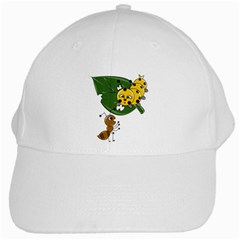 Animal World White Baseball Cap