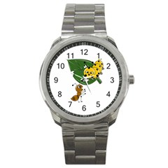 Animal World Stainless Steel Sports Watch (round)