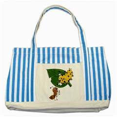 Animal World Blue Striped Tote Bag