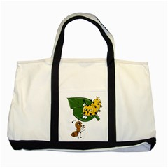 Animal World Two Toned Tote Bag