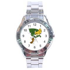 Animal World Stainless Steel Analogue Watch (round)
