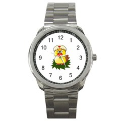 Coming Bird Stainless Steel Sports Watch (Round)