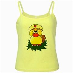 Coming Bird Yellow Spaghetti Top