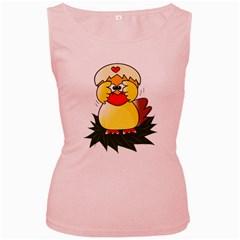 Coming Bird Pink Womens  Tank Top