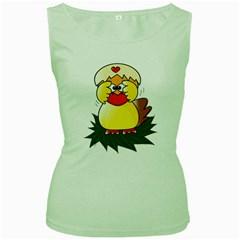 Coming Bird Green Womens  T Shirt