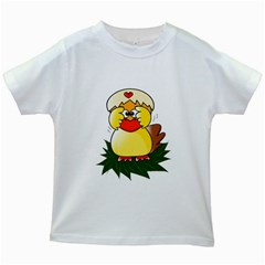 Coming Bird White Kids'' T-shirt