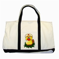 Coming Bird Two Toned Tote Bag