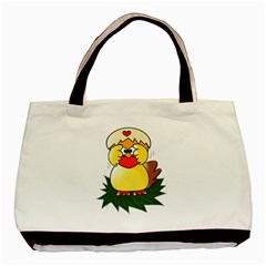 Coming Bird Twin-sided Black Tote Bag