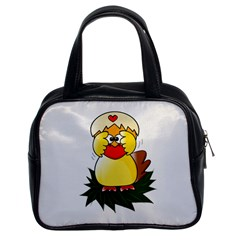 Coming Bird Twin-sided Satched Handbag